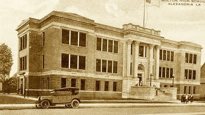 Bolton High originally opened in 1915 and was located on Sixth and Beauregaurd Streets in downtown Alexandria. The site now houses the Rapides Parish School Board Central Office.