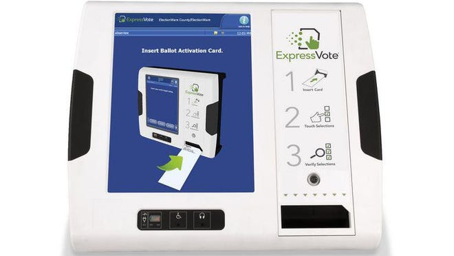 The ExpressVote Universal Voting System will be used exclusively during early voting in Bastrop County.