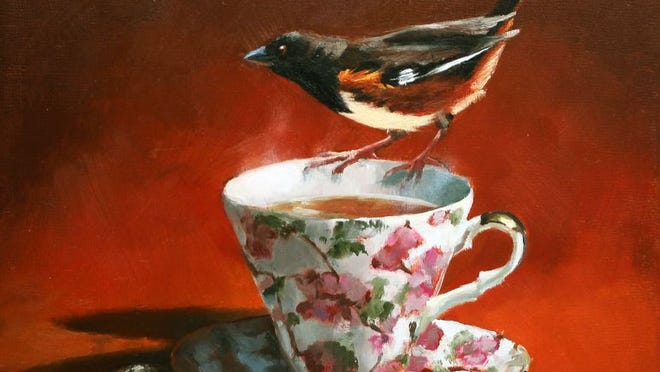 """""""Drink Your Tea"""" by Edith Dinger, part of Studios on High Gallery's new exhibition, """"Our Fragile World"""""""