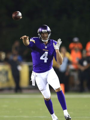 Mike Kafka played for the Minnesota Vikings in the 2015 preseason before being released. The Bengals signed him to their practice squad on Dec. 29.