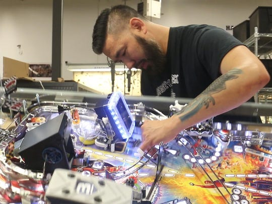 Inside the Jersey Jack Pinball factory in Lakewood.