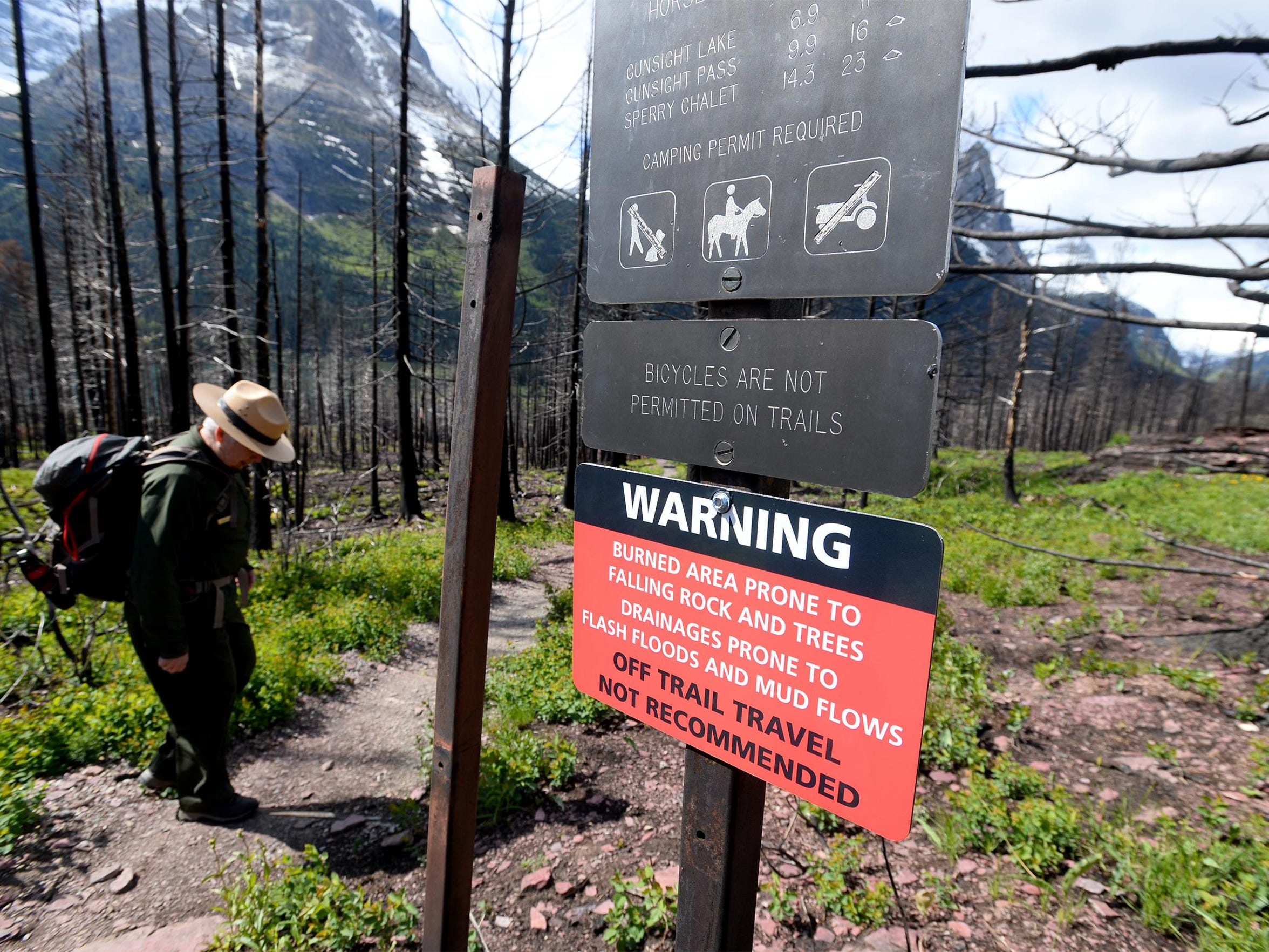 The Reynold's Creek Fire in Glacier National Park opened