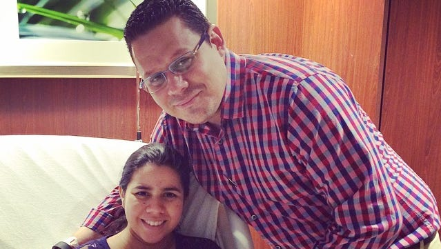 Catherine Aguiar and Josue Fiallos traveled from Honduras in order for their daughter, Ema, to be born at Hendersonville Medical Center. The couple has worked with two of the hospital's employees who have worked in Honduras on mission trips for 10 years.