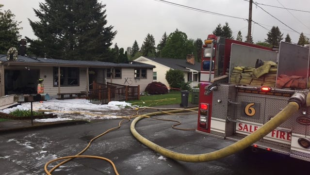Salem Fire Department responded to a residential fire that left one Salem home with significant damage on the  1110 block of Shamrock Drive SE around 3:40 a.m. Friday, May 12, 2017.