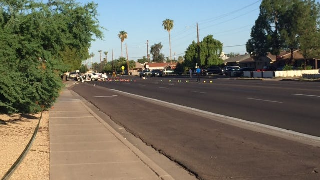 Police were investigating a head-on car accident Aug. 7, 2017, on Thomas Road near 37th Avenue in Phoenix.