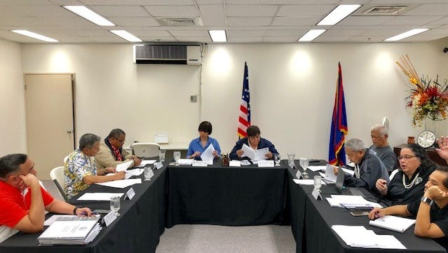 Members of the Guam Election Commission board on Thursday review documents subpoenaed from Education Superintendent Jon Fernandez and lieutenant governor candidate David Cruz.
