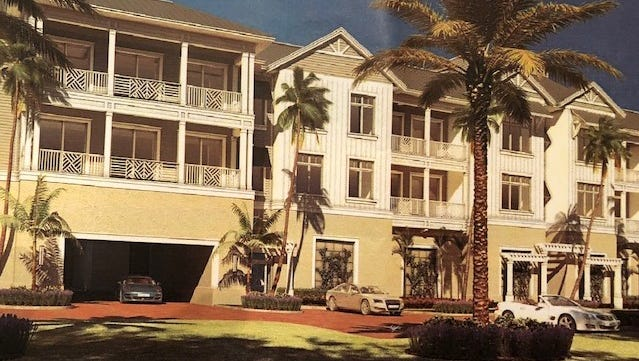 An artist's rendering shows The Surfsedge at Indian River Shores, a development of condominiums and single-family homes about to begin construction on State Road A1A.