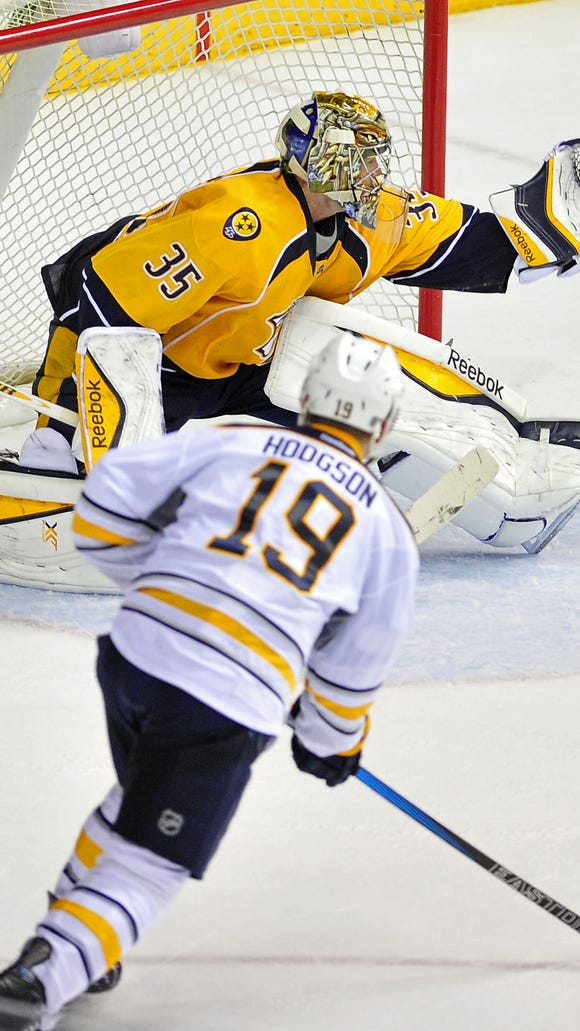 Forward Cody Hodgson signed a one-year contract with the Predators on Wednesday.
