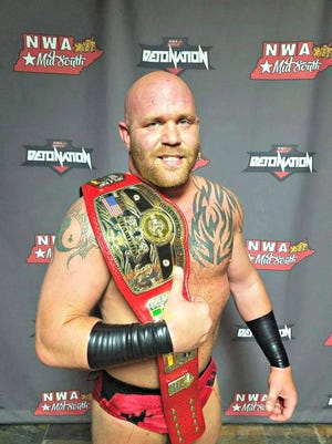 Arrick Andrews won the National Wrestling Association's World Junior Heavyweight title on April 7 in Ripbley, Tenn.