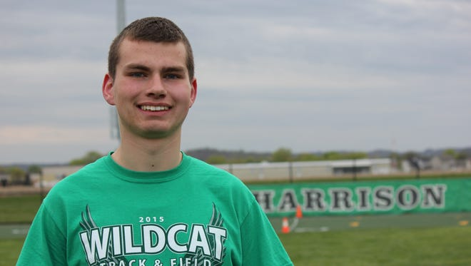 Travis Tedesco of Harrison ran the 1,600 and the 4x800 for the Wildcats April 24 at the Harrison Relays.