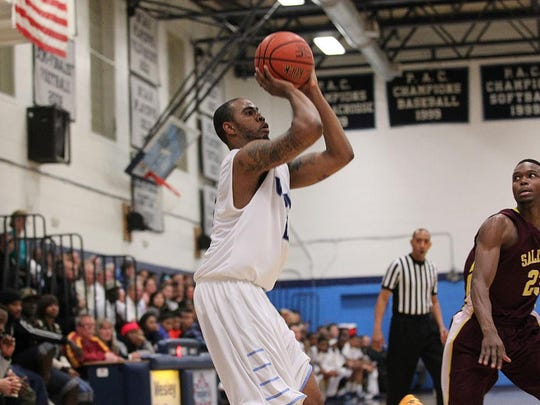 Senior Quincy Pettiford averaged 8.2 points and 5.5 rebounds a game for Wesley College this season.