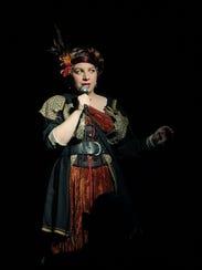 Carmel Clavin stars as the bard in Browncoat Bellydance's