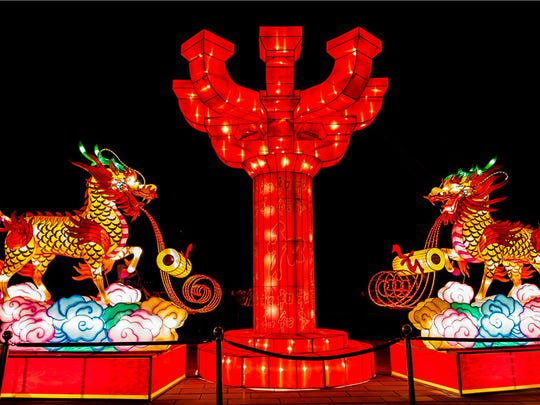 Spanning the seven-and-a-half acre square, the lantern festival will stretch through mid-June.