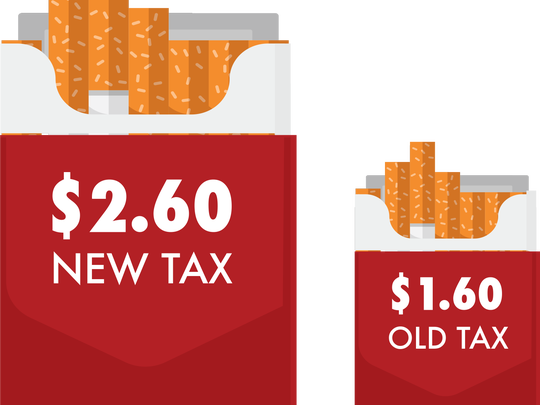 Pennsylvania's cigarette tax recently went up 62.5 percent, from $1.60 per pack of 20 cigarettes to $2.60 per pack.