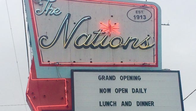 Look for the refurbished neon sign out front at The Nations Bar and Grill.