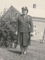 Virginia Conant on the family farm.
