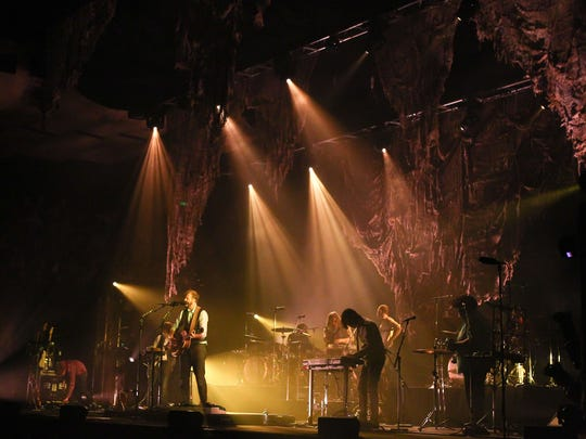 Justin Vernon of Bon Iver performs on stage at the Sydney Opera House on March 11, 2012 in Sydney, Australia.