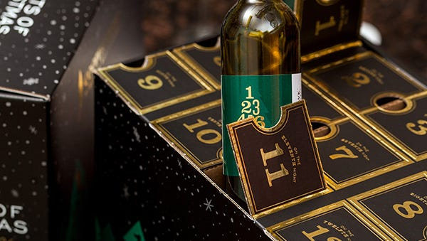 Cooper's Hawk wine advent calendar. Cooper's Hawk has a location at 3815 E. 96th St. in Indianapolis.