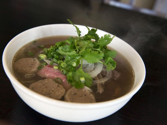 The Wild Ginger house special, Pho Dac Biet made with meatballs, flank, brisket, tendon and steak. Wild Ginger is located at 1959 Hendersonville Rd in Biltmore Forrest.
