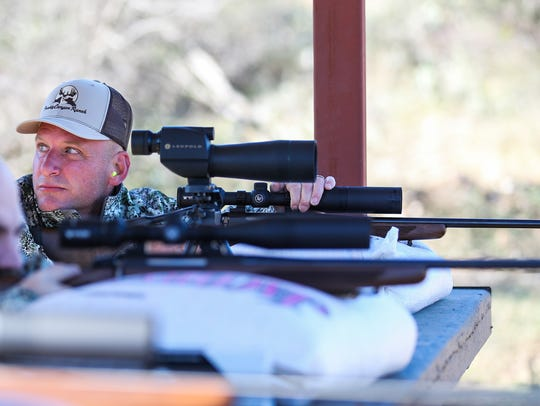 Army Staff Sgt. Jason Sandlin from Louisiana tests