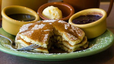 Lemon ricotta pancakes from Wildflower Bread Co.
