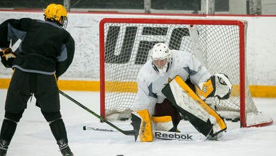 ASU junior goalie Robert Levin is back from major knee surgery for the start of the Sun Devils' first NCAA game Friday.