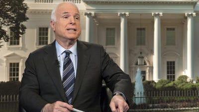 Sen. John McCain during an appearance on CBS's Face the Nation