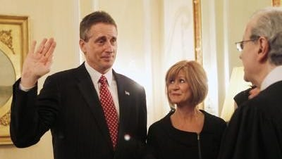 Robert Duffy is sworn in as lieutenant governor.