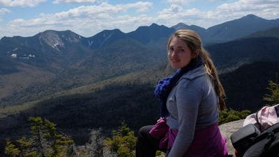 Walkabout student Samantha Klein of Chappaqua surveys New York from the top of the Adirondacks.
