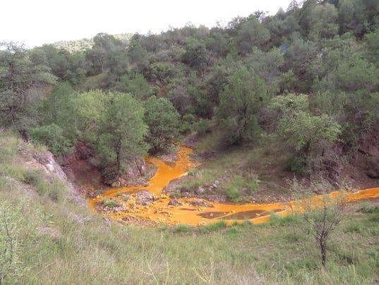Orange sludge mines