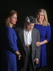Joseph Just, 96, of New Rochelle, photographed with