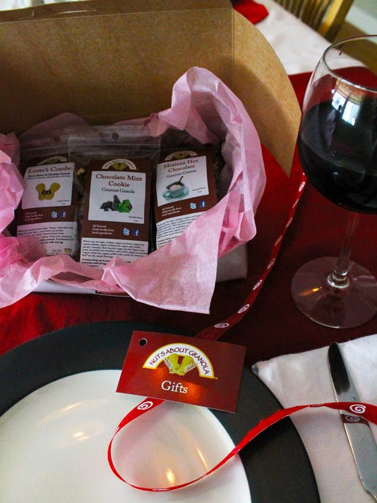 Get your Valentine a gift bag of local granola instead of fatty chocolates this year. Photo courtesy of Nuts About Granola.