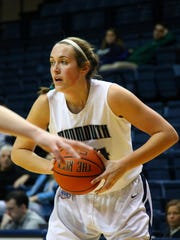 Monmouth center Sara English has been splitting time between playing basketball and student-teaching.