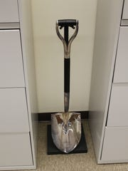 The shovel used for UCF's ground-breaking ceremony