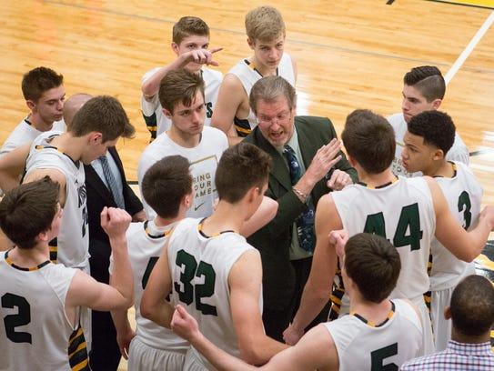 Kurt Keener coaches the Gilbert Christian High School