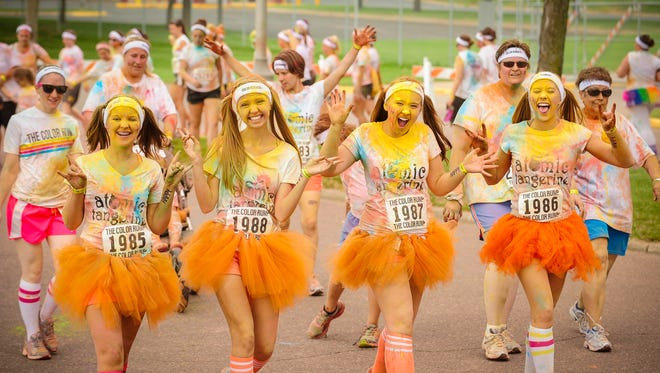 Runners don tutus at The Color Run.