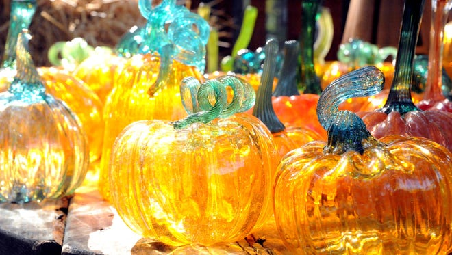 The pumpkin patch at the Festival of Fine Craft at Wheaton Arts and Cultural Center will feature a variety of glass pumpkins.