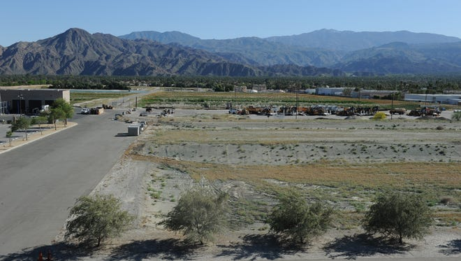The Coachella Valley Water District plans to begin using water from the Colorado River to replenish the aquifer on land between the district's offices and a sewage treatment plant in Palm Desert.