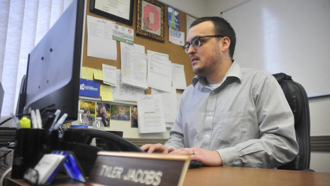 Tyler Jacobs is enjoying the new office location for the Bucyrus Area Chamber of Commerce.