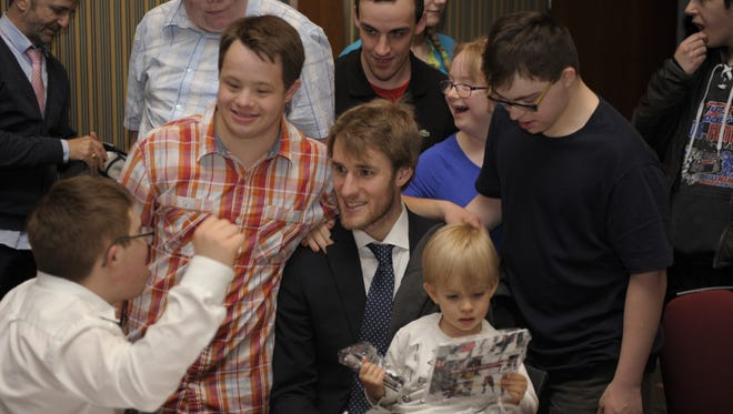 Predators center Kyle Turris attends the Capital City Condors' end-of-season banquet last May.