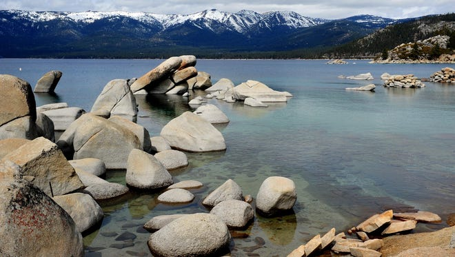 Lake Tahoe at Sand Harbor, taken in March 2013.