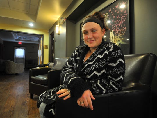 Alesha Meyers, 27, of Wausau, poses for a photo Thursday, Oct. 15, 2015, at The Women's Community in Wausau.