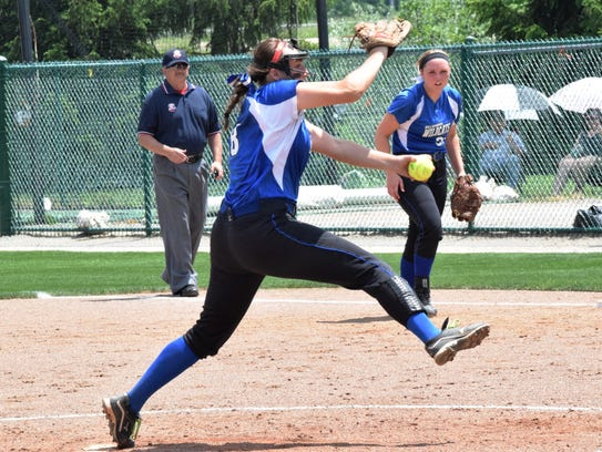 Williamsburg pitcher Carly Wagers takes the mound for
