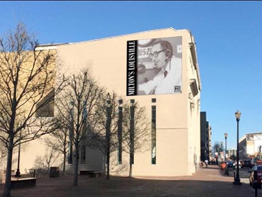 Simulation of Milton Metz Hometown Heroes Banner on Market Street