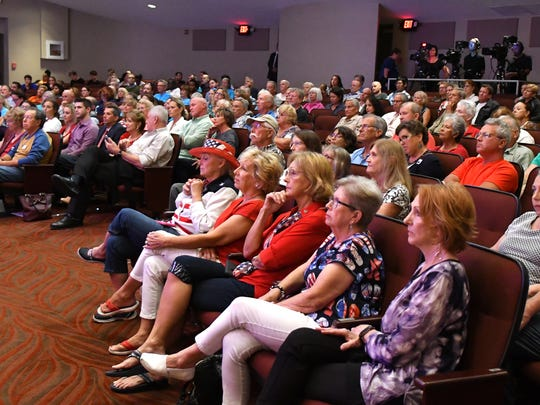 About 225 people attended the forum at Eastern Florida State College's Cocoa campus.