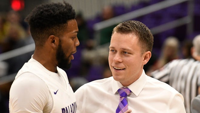 Furman senior Devin Sibley, left, begins his final Southern Conference season as Bob Richey begins his first as the Paladins' head coach.