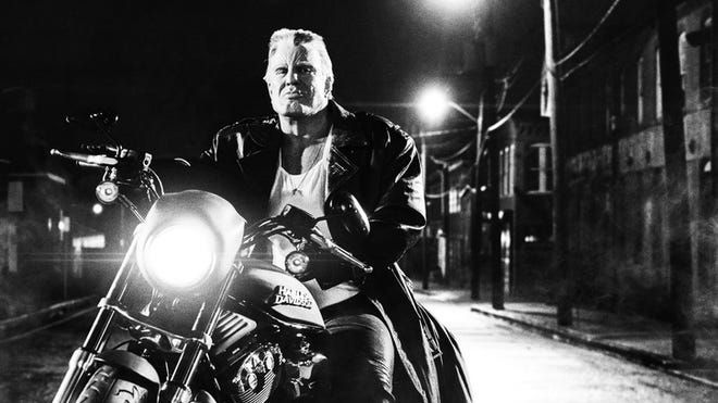 Mickey Rourke in 'Sin City: A Dame to Kill For.' The film finished in eighth place at the box office, with a $6.5 million opening weekend.