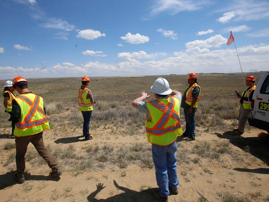 BHP Billiton employees and guests on May 26 tour a