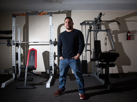 David Gutierrez, owner of Bodyworx Health Studio, poses for a portrait on Monday.
