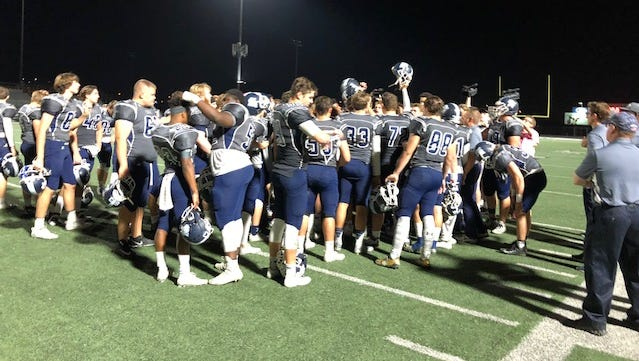 Kellis players celebrate after their win over Ironwood Friday.